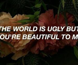 Lyrics, quotes, and flowers image