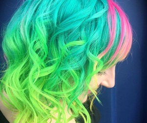 color hair, dyed hair, and hair image