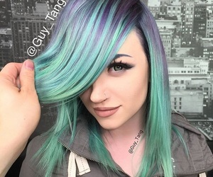color hair, dyed hair, and hair dye image