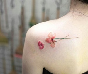 girl, tattoo, and delicated image