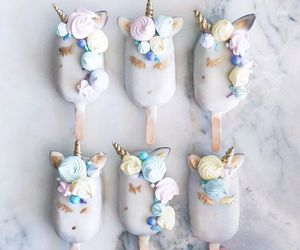unicorn, food, and ice cream image