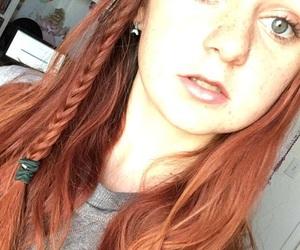 blue eyes, mermaid, and read head image