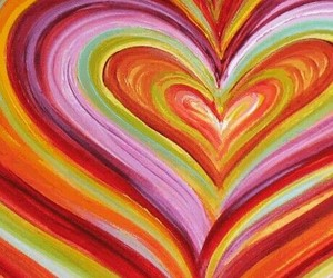 abstract, heart, and colorful image
