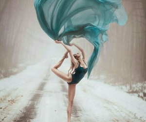 dance, ballerina, and blue image