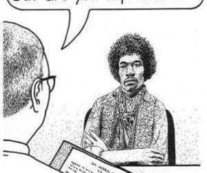 humor, Jimi Hendrix, and musicians image