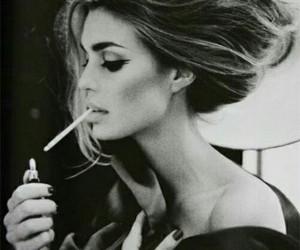 girl, Hot, and smoker image