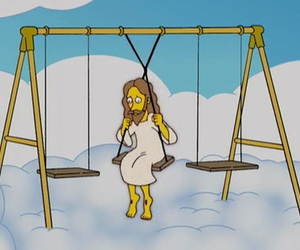 jesus, the simpsons, and simpsons image