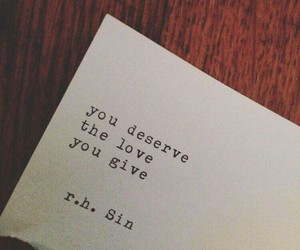 quote, deserve, and love image