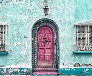 door, pink, and beautiful image