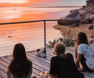 aventura, playa, and amistad image