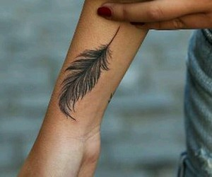 feather, tattoo, and feathers tattoo image