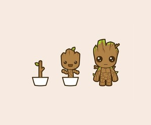 wallpaper, groot, and baby groot image