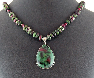 etsy, sterling silver, and gemstone necklace image