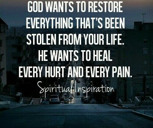 god, restore, and love image