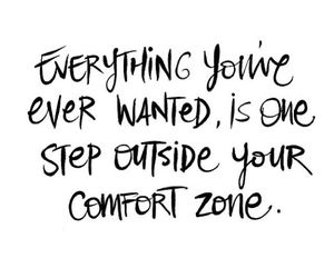 quotes, comfort zone, and life image