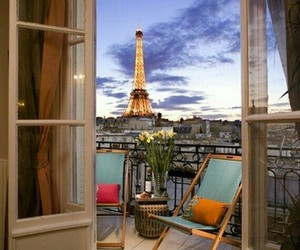 beautiful, paris, and terrace image