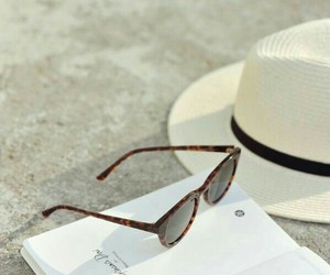 beach, classy, and book image