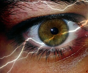 eyes and lightning image