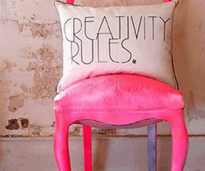 pink, chair, and creativity image