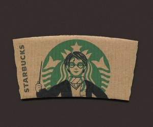 starbucks, harry potter, and drawing image