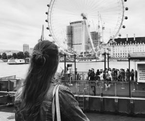 girl, london, and london eye image