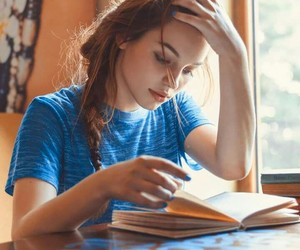 book, girl, and model image