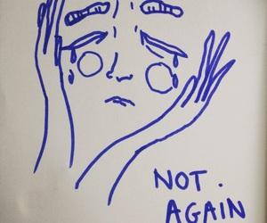 sad, drawing, and grunge image