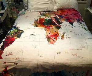 bed, room, and world image