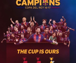 Barcelona and champions image