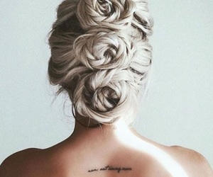 hair, roses, and silver image