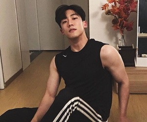 asian, gym, and man image