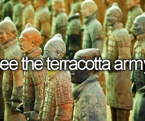 bucket list and terracotta army image