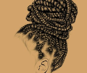 girl, art, and braids image