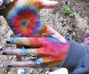 hands, colors, and hippie image