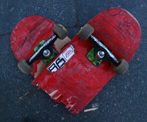 heart, skate, and red image