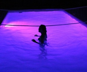purple, pool, and aesthetic image