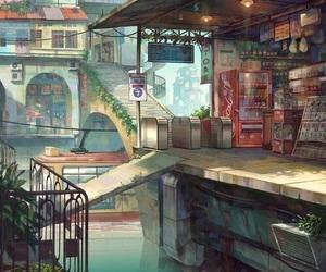art, anime, and city image