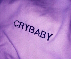 crybaby, shirt, and words image