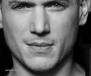 b&w, black and white, and prison break image