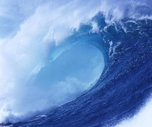 blue, sea, and waves image