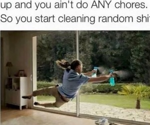 funny, chores, and meme image