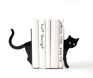 black, literary, and bookends image