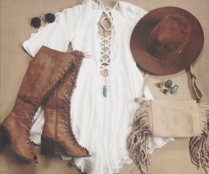 outfit, fashion, and boho image