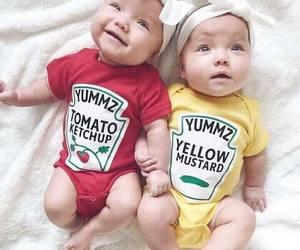 baby, cute, and ketchup image