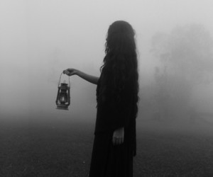 black, candle, and gothic image