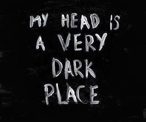 dark, head, and quotes image