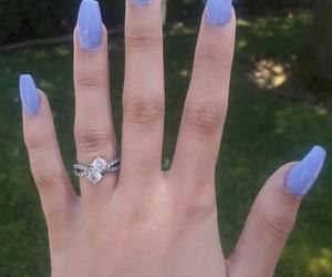 nails, ring, and summer image