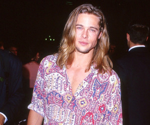 brad pitt, 90s, and handsome image