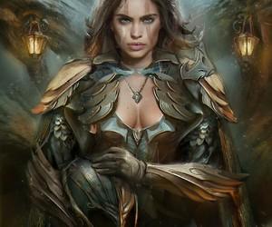 fantasy, warrior, and art image