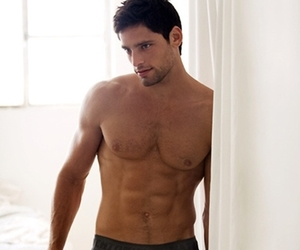 hairy, shirtless, and malemodel image